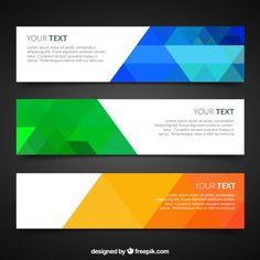 Bannières avec géométrique coloré