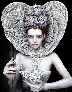 The White Queen: ruling over the forest of Wonderland (Wonderland Series by Kirsty Mitchell)