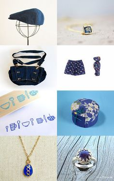 Blue Collection by Kimie Sagisaka on Etsy--Pinned with TreasuryPin.com