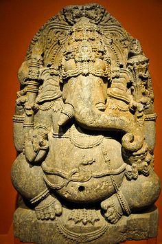 Seated Ganesha (Indian 12th Century) at the Virginia Museum of Fine Arts (VMFA) Richmond VA