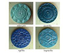 Handgemachte Keramik Achterbahn-Satz von artcrafthome auf Etsy