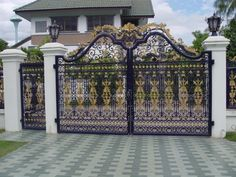 Gate And Fence Fences Simple Main Gate Design For Home Simple New Home Gates House Fence Design, House Main Gates Design, Front Gate Design, Wall Design, Front Gates, Entrance Gates, House Entrance, Gate Designs Modern, Modern House Design