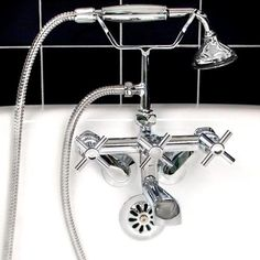 Contemporary Tub-Mount Faucet & Hand