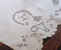 Em's Heart Antique Linens -Antique Linen Embroidered Towels