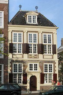 Leiden, Rapenburg, bibliotheca Thysiana door Arent van 's-Gravesande