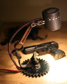 Piston Industrial Steampunk lamp #goofy_style122