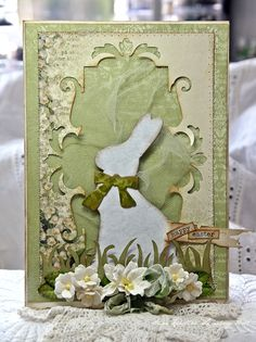Anne Kristine Holt for Sizzix dies using Easter elements and several other dies w/tutorial; March 2013