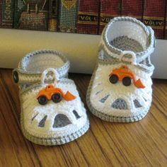 Sandálias de Crochê Bebê Meninos Maquinas - / Crochet Sandals Baby Boys Machines -