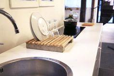 Tuto: un égouttoir à vaisselle en bois et béton 9