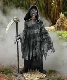 grim reaper costume for boys chasing fireflies scary halloween