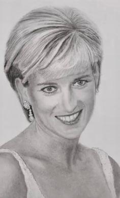 Celebrity Caricatures, Celebrity Drawings, Celebrity Portraits, Lady Diana, Pencil Portrait, Portrait Art, Diana Fashion, Learn Art, Face Art
