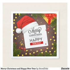 Shop Merry Christmas and Happy New Year Napkins created by StoreElida. Holiday Cards, Christmas Cards, Christmas Paper Napkins, Merry Christmas And Happy New Year, Cloth Napkins, Elephant Gifts, Art Pieces, Christian Christmas Cards, Christmas E Cards