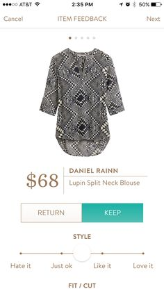 Daniel Rainn Lupin Split Neck Blouse. I love Stitch Fix! A personalized styling service and it's amazing!! Simply fill out a style profile with sizing and preferences. Then your very own stylist selects 5 pieces to send to you to try out at home. Keep what you love and return what you don't. Only a $20 fee which is also applied to anything you keep. Plus, if you keep all 5 pieces you get 25% off! Free shipping both ways. Schedule your first fix using the link below! #stitchfix @stitchfix…