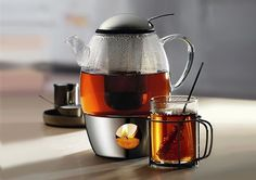 After water, tea is the most widely consumed beverage in the world. People put the kettle on and make a pot of tea to warm up, relax and share special moments with friends. And now you can make the perfect pot that stays warm as long as you like!WMF's original SmarTea glass teapot comes is a stunning, modern European design that everyone will love to look at. The clear glass exterior lets you gauge your tea's strength to make tea just the way you li...
