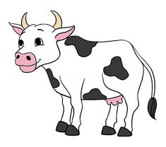 cow clipart vaca cartoon dibujo drawing draw easy cattle vacas cows facil drawings transparent caw goat dibujos comic faciles clip