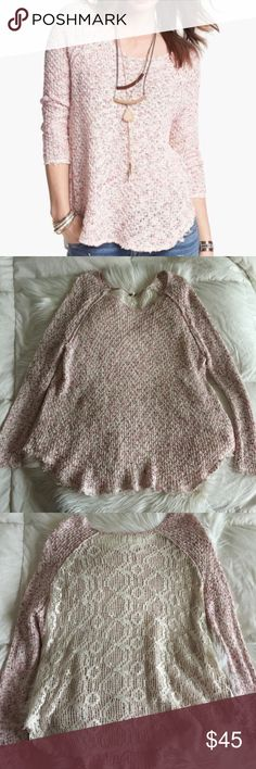 "Free People Poppyseed Pullover Sweater Free People Poppyseed Pullover Sweater. Approx 26"" length. Oversized. Free People Sweaters"