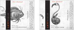 Left Field Wine Label Illustrations by Steven Noble on Behance