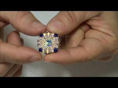 Jewelry Making – Fine Sea Glass Jewelry Beaded Brooch, Beaded Rings, Jewelry Making Tutorials, Beading Tutorials, Beaded Jewelry Patterns, Bracelet Patterns, Tatting Jewelry, Tiny Stud Earrings, Earring Tutorial