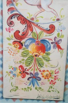 Tole Painting, Painting On Wood, Rosemaling Pattern, Russian Painting, Arte Popular, Fashion Painting, Painting Techniques, All Art, Painting Inspiration
