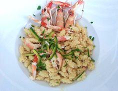 Chiusoni con scampi e zucchine #ricettedisardegna #recipe #sardinia #Gallura #fish