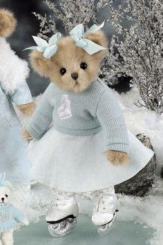 Brittany Blades is having fun on the frozen lake. She was introduced by Bearington Bears in fall Christmas Teddy Bear, Blue Christmas, My Teddy Bear, Cute Teddy Bears, Ours Boyds, Stuffed Animals, Boyds Bears, Tatty Teddy, Bear Doll