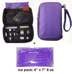 Diabetic Organizer Cooler Bag-for Insulin, Testing Supplies -Purple (2 x Ice Pack) ** READ MORE @ http://www.diabetes-matters.com/store/diabetic-organizer-cooler-bag-for-insulin-testing-supplies-purple-2-x-ice-pack/?a=4836