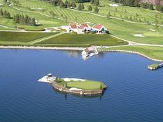 Coeur d'Alene Golf Course - with an island hole!