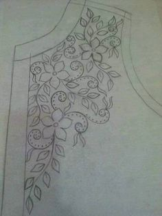 Awesome Most Popular Embroidery Patterns Ideas. Most Popular Embroidery Patterns Ideas. Embroidery Neck Designs, Bead Embroidery Patterns, Hand Work Embroidery, Hand Embroidery Stitches, Ribbon Embroidery, Machine Embroidery, Sewing Patterns, Bordado Floral, Mexican Embroidery