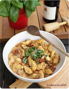 #Poulet crémeux aux tomates séchées parmesan et basilic