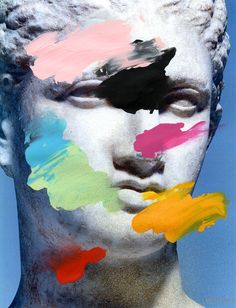 Composition 496 (paint and glitter on laser print) / by Chad Wys