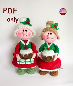 Thanks for the great review Riversch ★★★★★! http://etsy.me/2iRIjpN #etsy #supplies #christmas #hatmakinghaircrafts #amigurumi #santa #missis #claus #newyear #crochetpattern