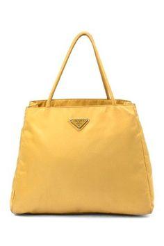 yellow prada bag