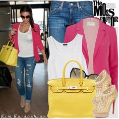 Not the biggest Kim K fan but love this outfit. All I need is the pink blazer and I'm set!