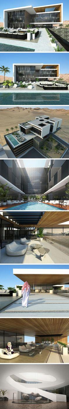 modern 4000 m2 villa in Saudi Arabia by Ng architects
