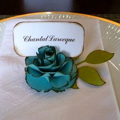 What a cute and different idea for place cards!
