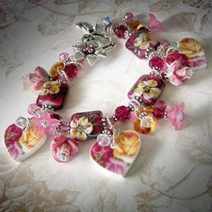 Broken China Heart Charm Bracelet by TZTUDIO - T's Studio Jewelry, via Flickr