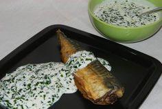 Macrou prajit cu sos de leurda Grains, Chicken, Food, Eten, Seeds, Meals, Korn, Cubs, Kai