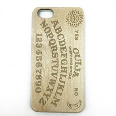 Ouija Board White Maple Wooden Cover iPhone 7 6 5 & Samsung S 7 6 Case | jiacase