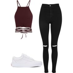 A fashion look from May 2017 featuring Topshop jeans and Vans sneakers. Browse and shop related looks.