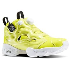 Reebok Women InstaPump Fury Overbranded yellow  hero yellow  white  black Size 65 US >>> See this great product.(This is an Amazon affiliate link and I receive a commission for the sales)