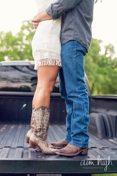 Engagement Photo Aim High Photography These are the boots I'm getting for the wedding! hoping to wear them for engagement pics too! Couple Photography, Engagement Photography, Wedding Photography, Photography Props, Sweets Photography, Country Couples, Cute Couples, Country Couple Photos, Engagement Couple