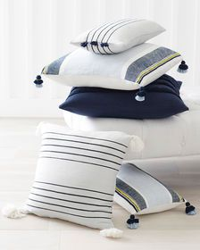 Del Mar Pillow Cover Navy Pillows Throw Pillows Blue Pillows