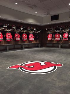 New Jersey Devils Locker Room