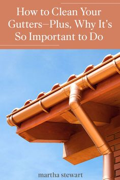 Roofing experts share why you should really clean your home's gutters regularly, along with the best gutter cleaning tips to help you finish this chore faster. #marthastewart #laundrytips #cleaning #cleaningtips #cleaninghacks #naturalcleaning Gutter Cleaning, Cleaning Hacks, Homemade Clay, Roofing Systems, Outside Living, Laundry Hacks, Homekeeping, Outdoor Landscaping, Natural Cleaning Products