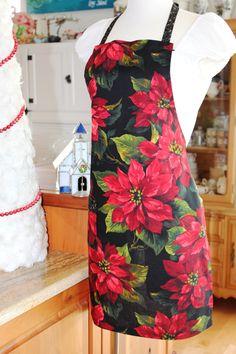 Poinsettia Apron