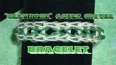 """Rainbow Loom® """"4-Leaf Clover"""" Bracelet Tutorial"""