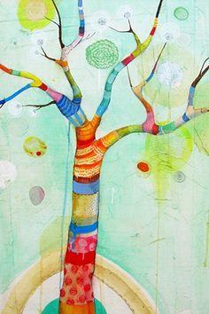 tronco de colores para soñar