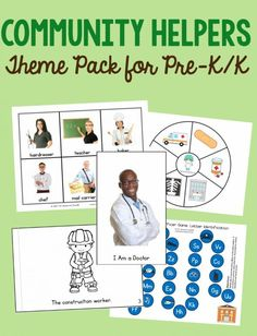 Wow - this pack has everything I could want for a community helpers theme in preschool or kindergarten. I love that it has activities for 24 different workers!