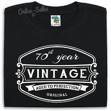 70 th Vintage Birthday Mens T Shirt 71 72 73 74 Great Gift For Him Present Dad