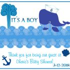 It's A Boy | Whale | CREATIVE CANDY WRAPS - a sweet party favor